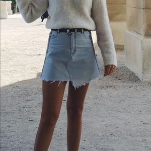 & Other Stories Two Tone Denim Skirt